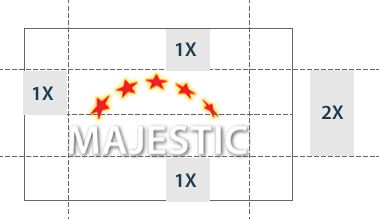 Spacing around Majestic logo